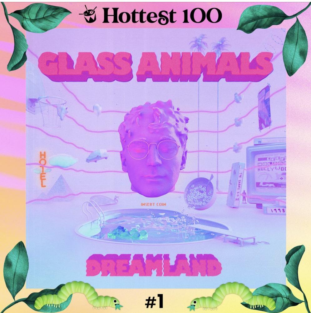 Glass Animals #1 on triple j Hottest 100