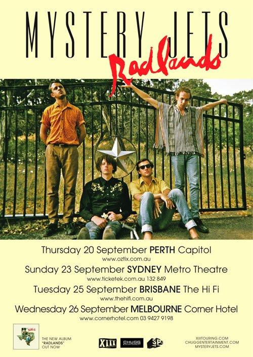 Mystery Jets Australian Tour 2012